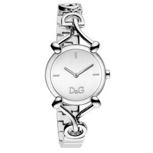 D&G Logo Plated Stainless Steel Watch